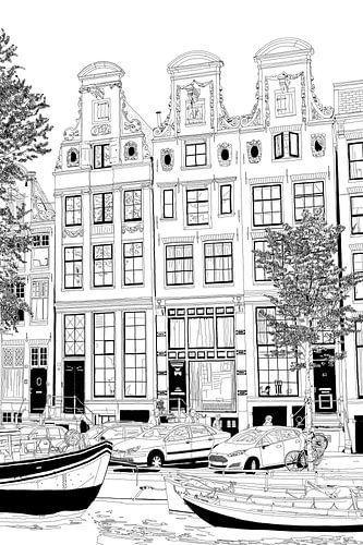 Tekening Herengracht 59-63 Amsterdam