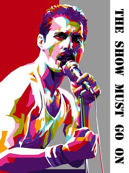 Pop Art Freddie Mercury van Jan Willem van Doesburg