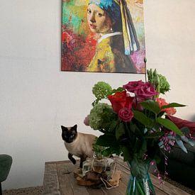 Photo de nos clients: Meisje met de Parel - The Full Colour Edition sur Marja van den Hurk, sur toile
