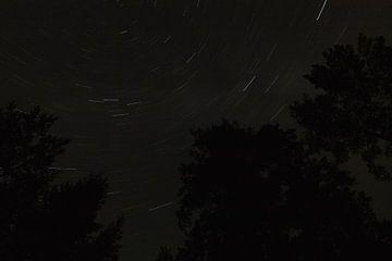 Star trails van Patrick vdf. van der Heijden