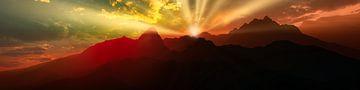 Zonsopgang in de bergen van Max Steinwald