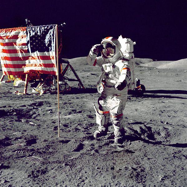 Eerste man op de maan, 1969 van Moondancer .