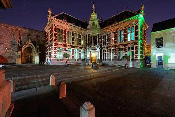 Het Academiegebouw in Utrecht (2) van Donker Utrecht