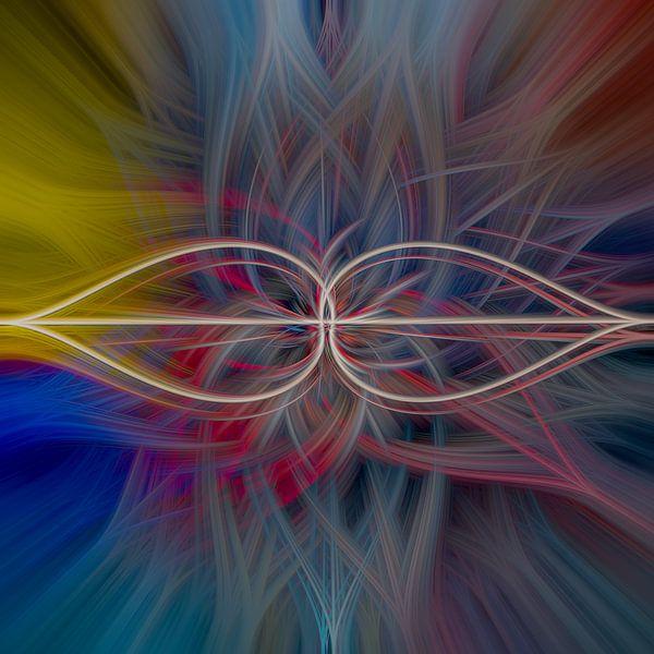 abstract vierkant 8 van Leo Luijten