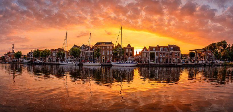 Panoramic sunset in Alkmaar van Costas Ganasos