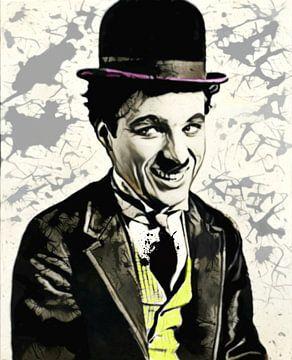 Motiv Charlie Chaplin Splash - Yellow van Felix von Altersheim