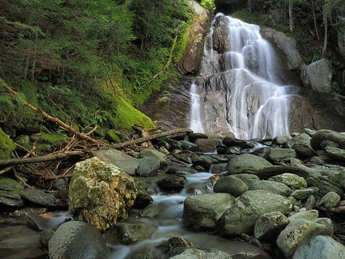 Moss Glen Falls in het hart van de Green Mountains, Vermont, USA van Wilco Berga