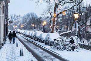 Sneeuw op de Oudegracht in Utrecht van De Utrechtse Internet Courant (DUIC)