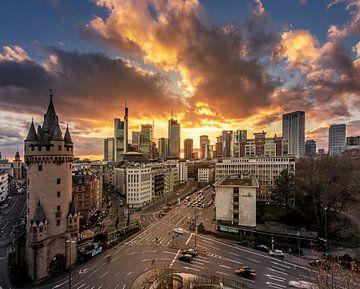 Frankfurt am Main, uitzicht over een straat van Fotos by Jan Wehnert
