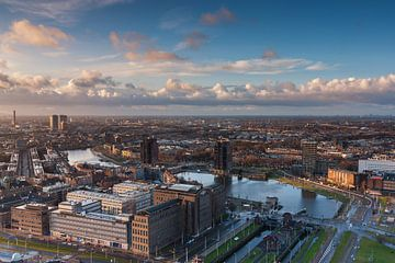Rotterdam Coolhaven vanaf de Euromast von Ilya Korzelius