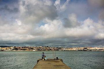 Visser Geniet Van Skyline Lissabon | Landschapsfotografie van Part of the vision