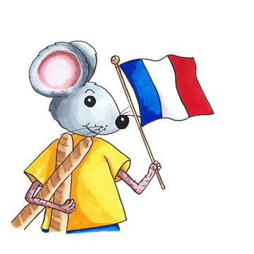 Französische Maus von Ivonne Wierink