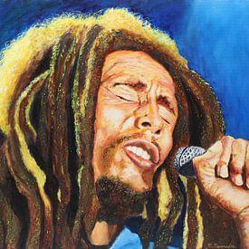 Bob Marley in concert van Christian Carrette