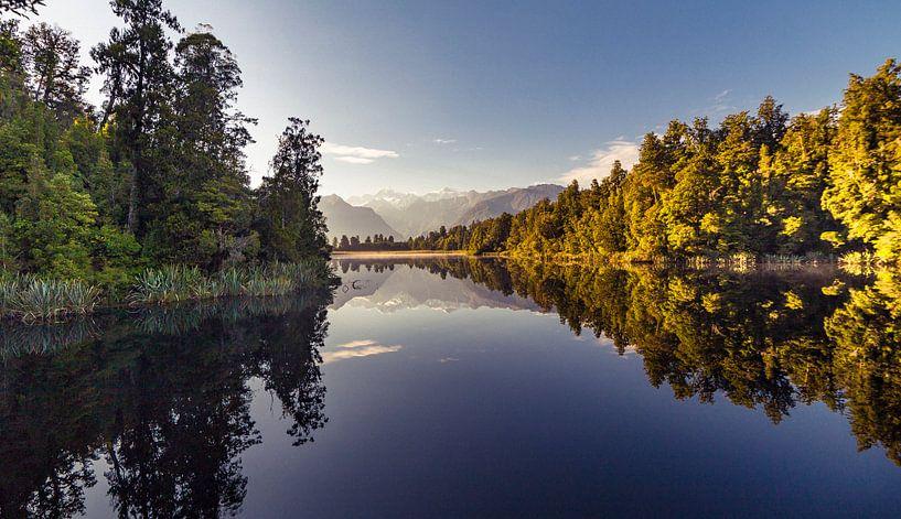 Lake Matheson, Nieuw Zeeland van Studio W&W
