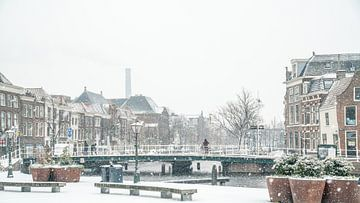 Leiden in de sneeuw von Dirk van Egmond