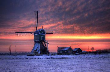 Lichtshow bij de windmolen van Stephan Neven