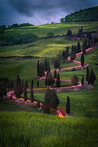 Lichtsnelheid in Toscane van Edwin Mooijaart