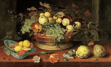 Stillleben eines Korbes mit Früchten, Balthasar van der Ast