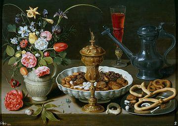Clara Peeters, Stilleven met Venetiaans glas en vijgen van
