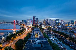 Skyline Rotterdam, Nederland van Frank Verburg