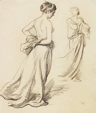 Frauen mit Gewandstudien, LUDWIG VON HOFMANN, Ca. 1919 von Atelier Liesjes