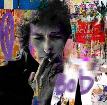Bob Dylan Plakative Collage Urban - Pop Art  van Felix von Altersheim