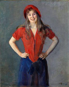 Portret van de schilder Oda Krohg, Christian Krohg - 1888 van Atelier Liesjes