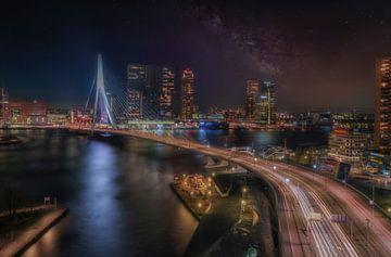 Rotterdam bei Nacht von Marcel van Balkom