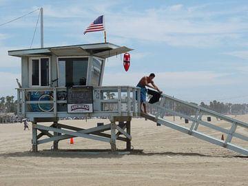 Santa Monica Pier van Jeffrey de Ruig