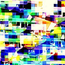 abstrakte City-Architektur  limitierte Edition 1-100 von lee eggstein