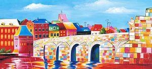 Schilderij Maastricht - Sint Servaasbrug