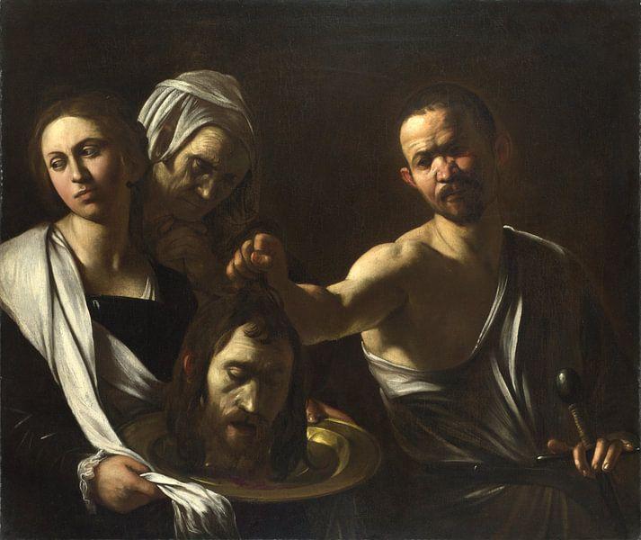 Salome mit dem dem Haupt des hl. Johannes d. Täufers, Michelangelo Merisi da Caravaggio von Meesterlijcke Meesters