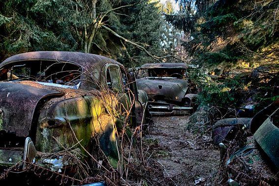 Vervallen auto's van Eus Driessen