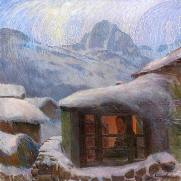 Einsamkeit (Eisregen), ERICH ERLER, Um 1900 von Atelier Liesjes