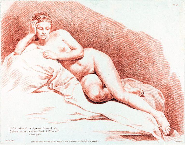 Liegender weiblicher Akt, Louis-Marin Bonnet, 1771 von Atelier Liesjes