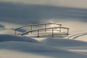 Brücke im Schnee, Norwegen von Adelheid Smitt