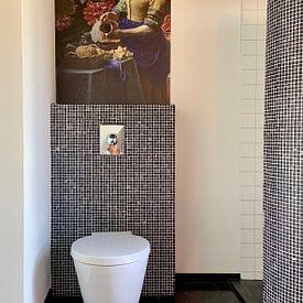 Kundenfoto: Die Milchmagd mit der Vase, Vermeer und der Heem, auf nahtlose tapete