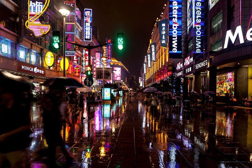 Regen in de straten van Van Renselaar Fotografie