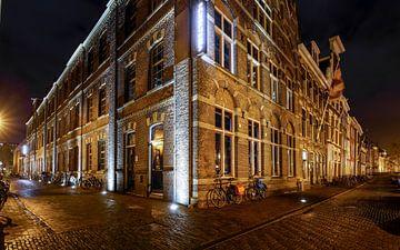 Marktsteeg in Leiden van Dirk van Egmond