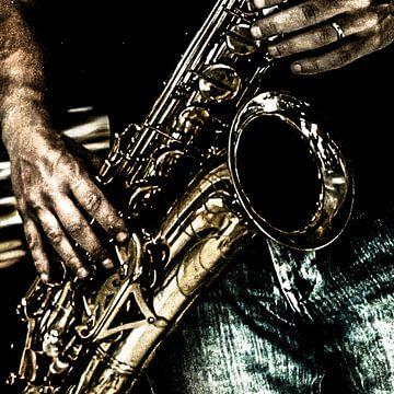 Spelen met sax van Henk Ravenhorst