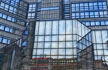 Glasfassade van Edgar Schermaul