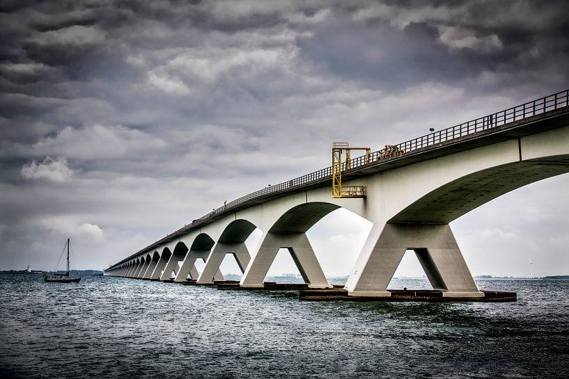 Zeelandbrug-02, Pont sur l'estuaire de Oosterschelde sur Frans Lemmens