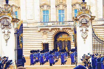 Buckingham palace: wisseling van de wacht 1 van Morena 68