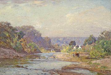 Landschaft von Brookville, Theodore Clement Steele