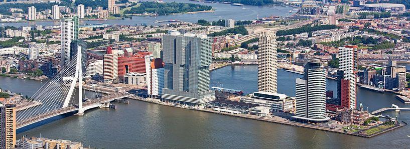 Luchtfoto panorama Wilhelminapier van Anton de Zeeuw