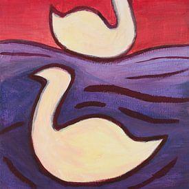 Schwäne im See von Ivonne Sommer