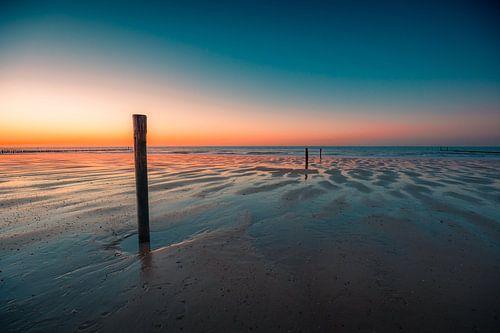 Domburg strand zonsondergang 2 van