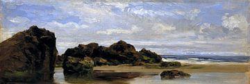 Carlos de Haes-Strand rif, kustlandschap, Antiek landschap