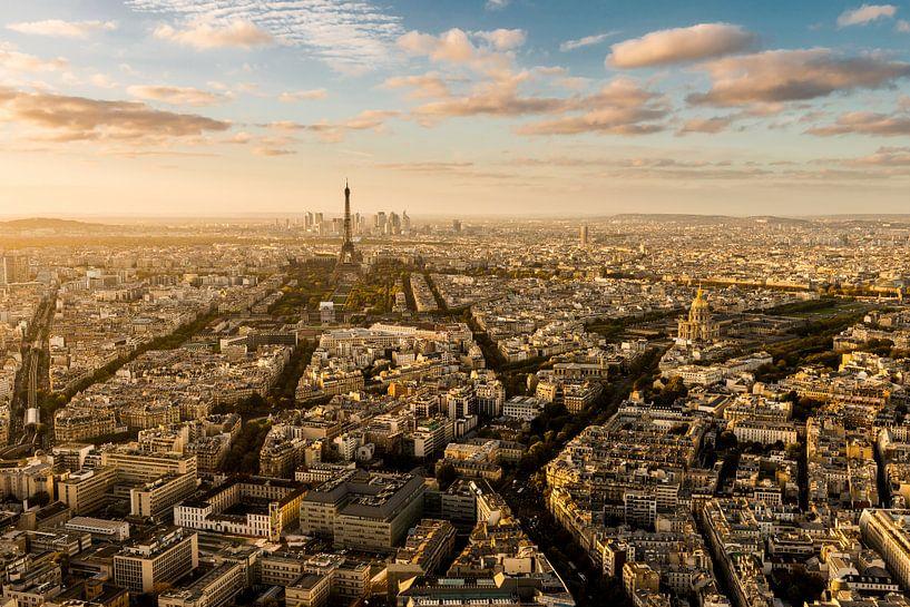 Zonsondergang Parijs - Uitzicht Tour Montparnasse - 4 van Damien Franscoise
