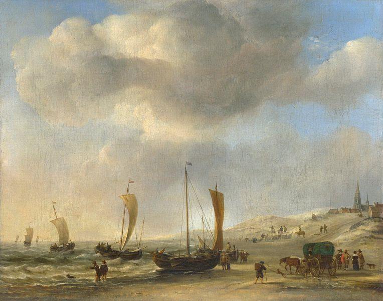 Das Ufer bei Scheveningen, Willem van de Velde von Meesterlijcke Meesters